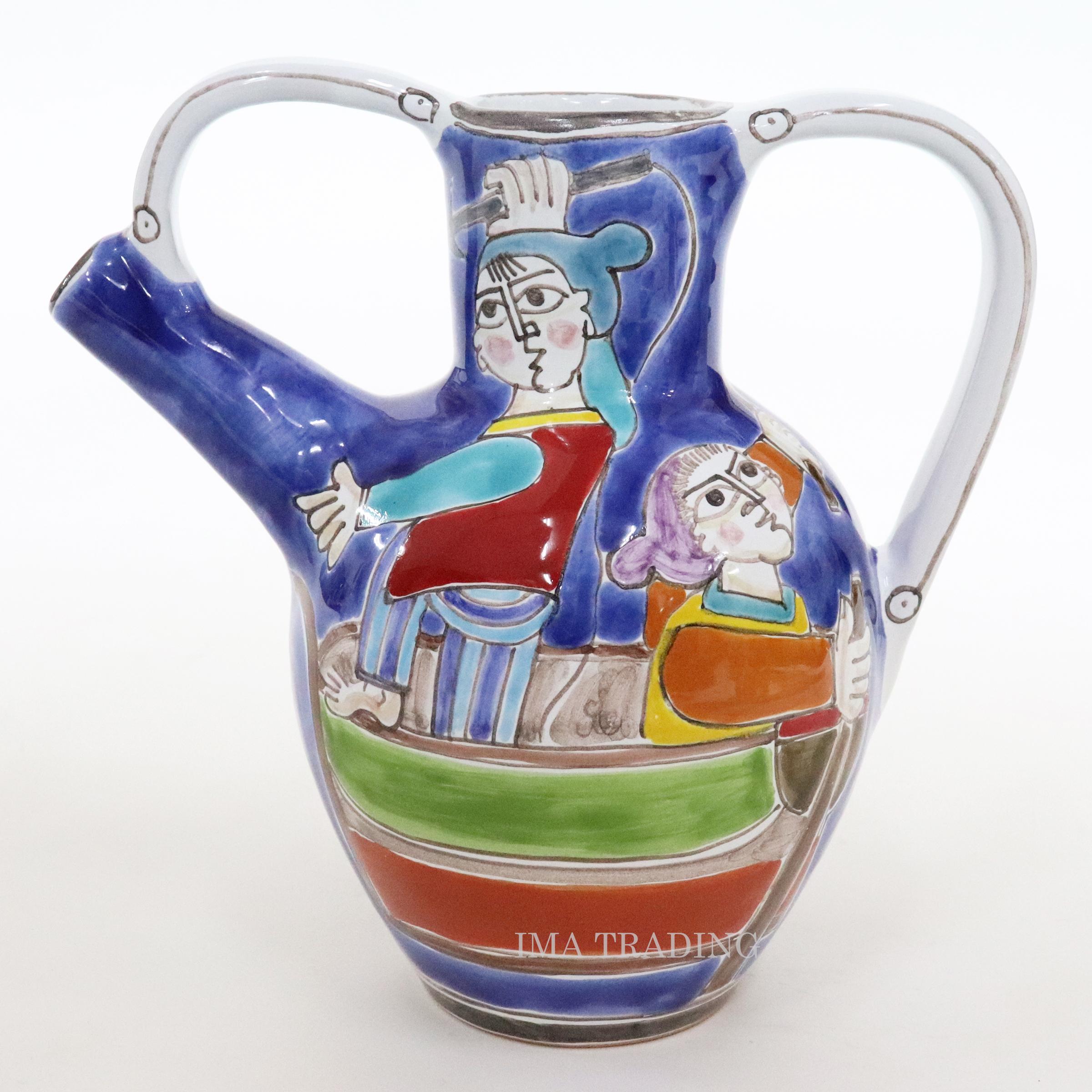 イタリア製 花瓶【M5-105DSB】