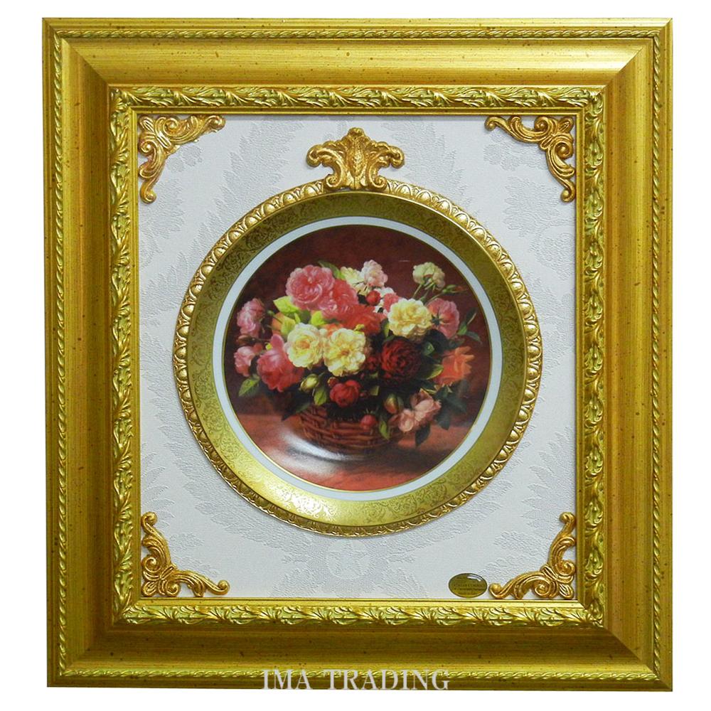 イタリア製 壁掛け絵皿【F8-B61】