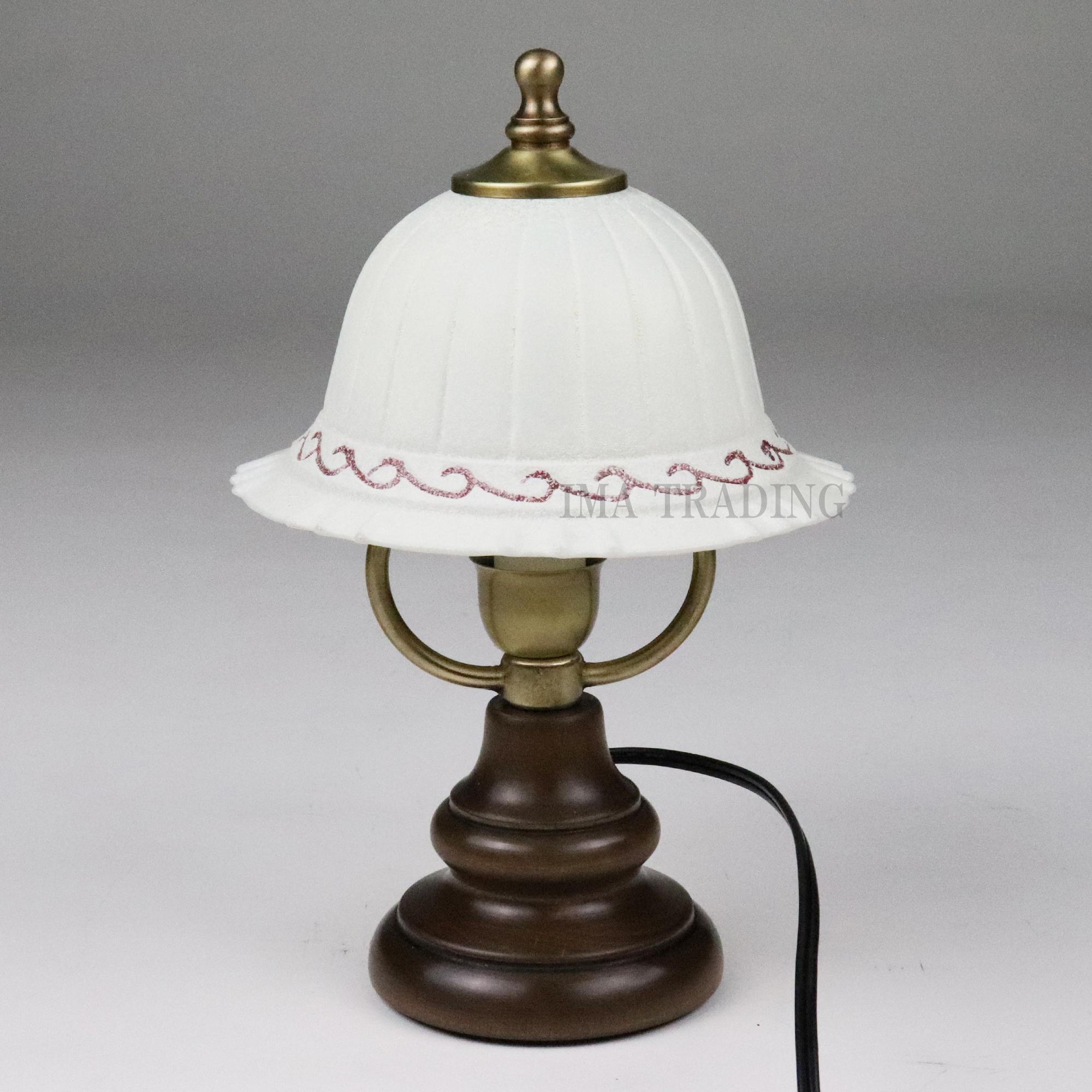イタリア製 卓上ランプ【66-1129GR】