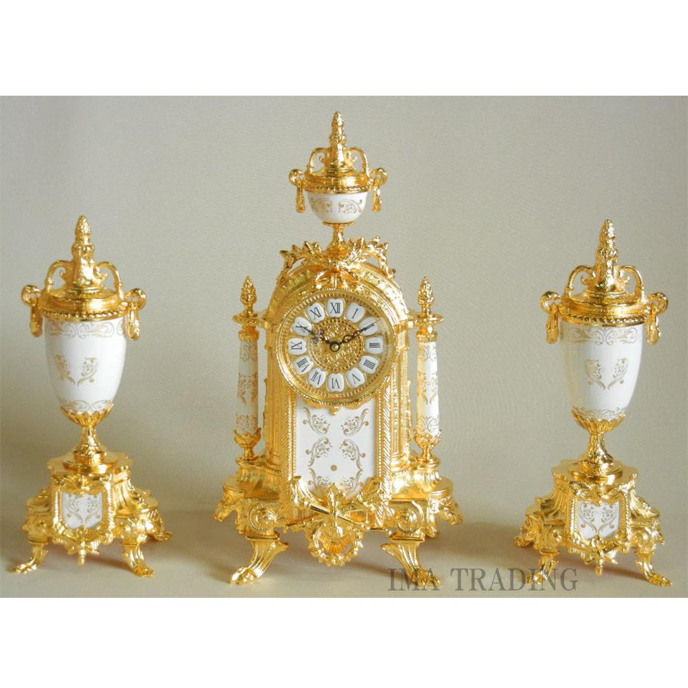 イタリア製  時計燭台3点セット【G3-R6400】