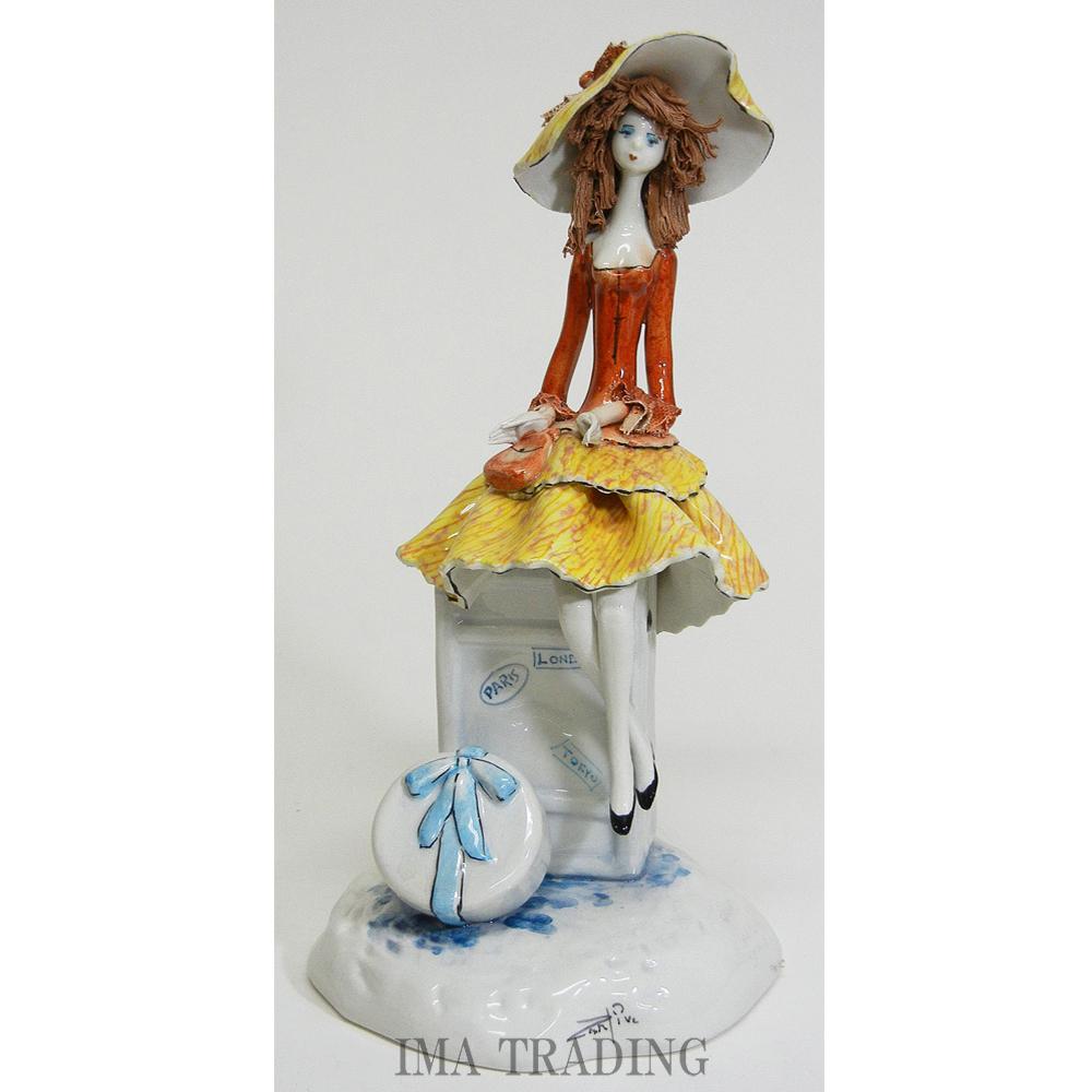 イタリア製 陶器人形【95-180507】
