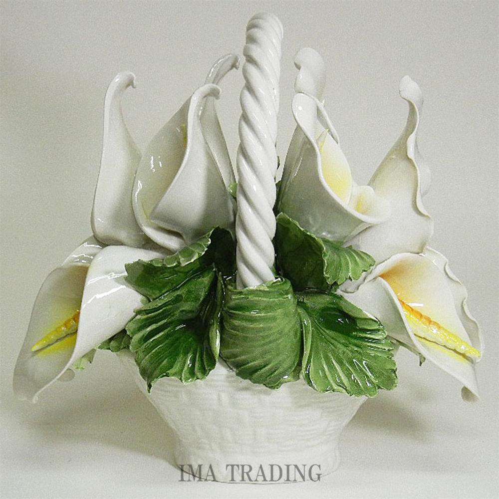 イタリア製 陶花【J4-A140】
