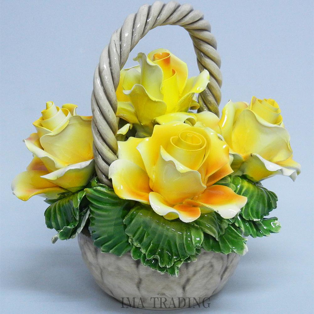 イタリア製 陶花【J4-A449Y】
