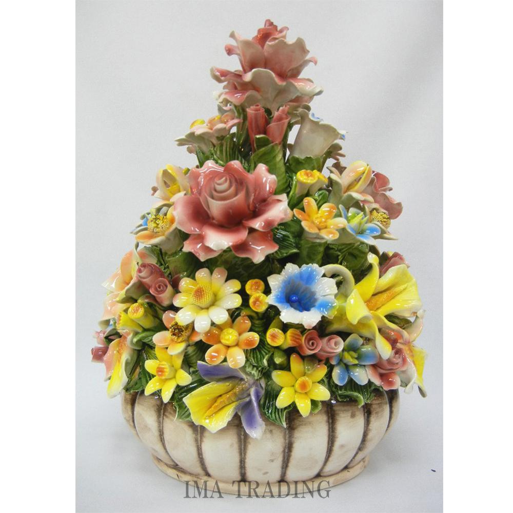 イタリア製 陶花【J4-A717】