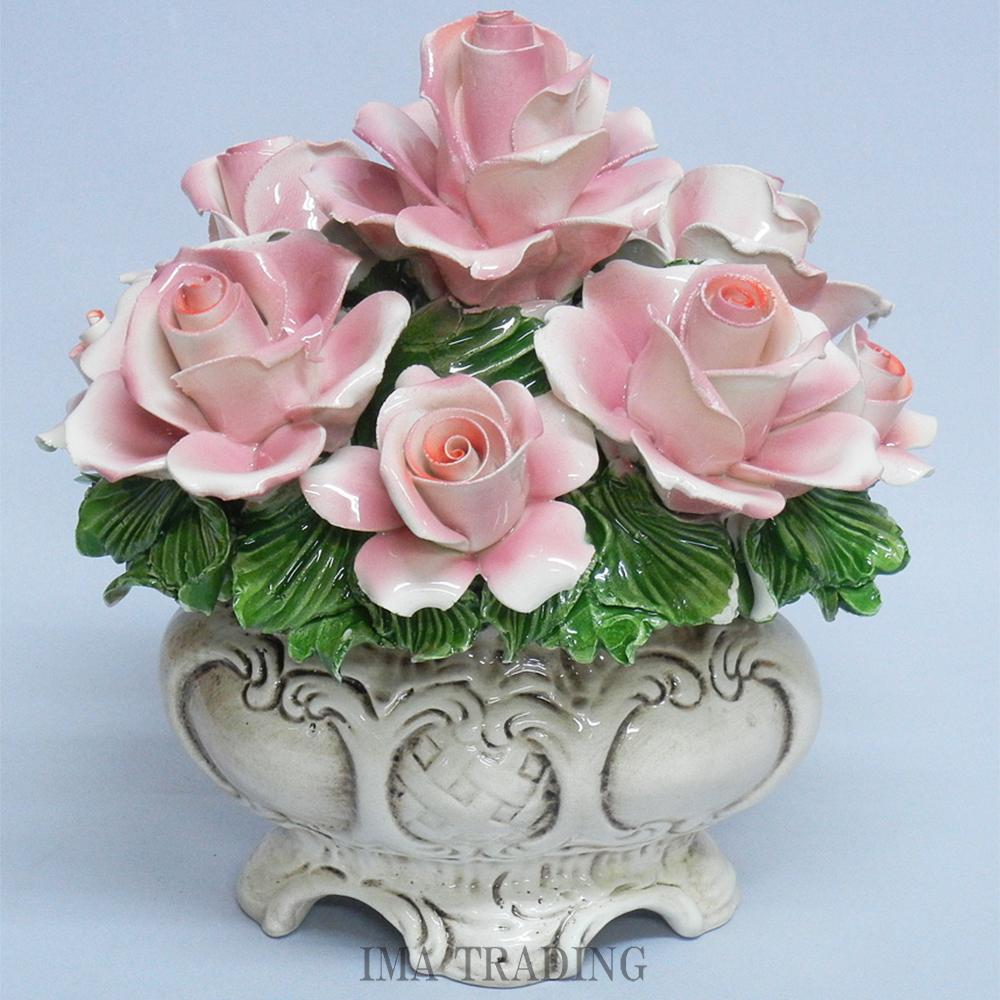 イタリア製 陶花【J4-A992P】
