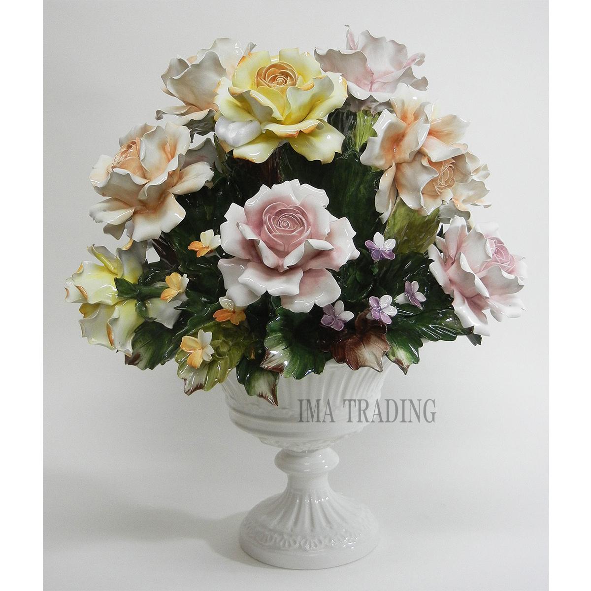 イタリア製 陶花【C6-1841】
