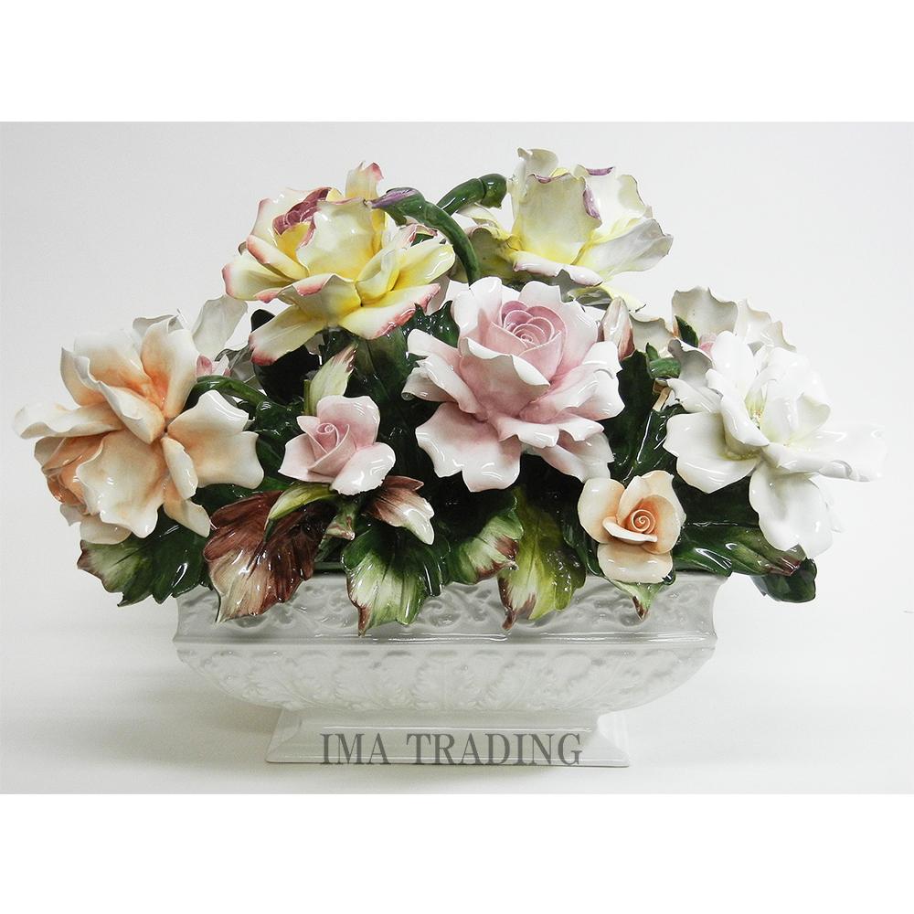 イタリア製 陶花【C6-1855】