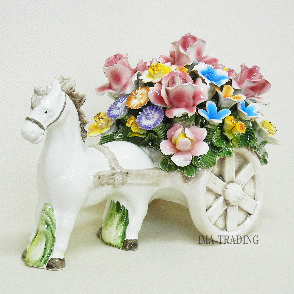 イタリア製 陶花【J4-A803】