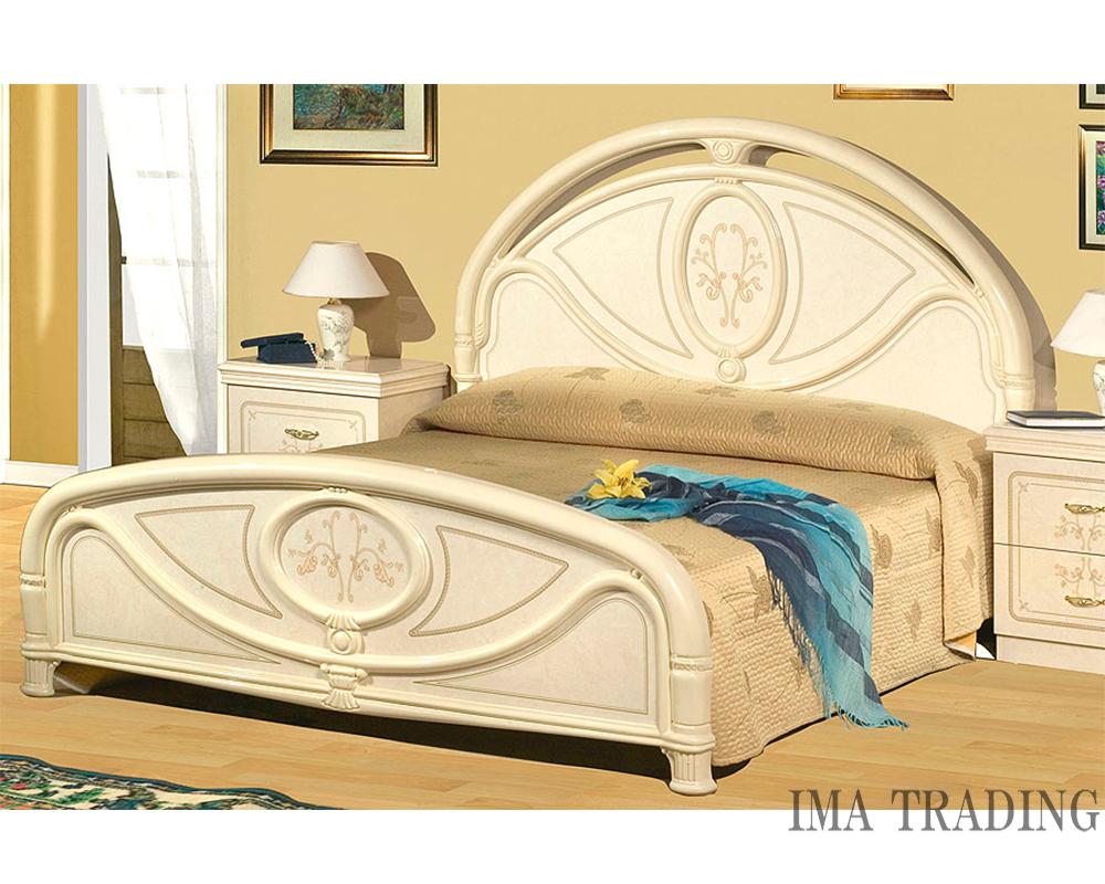 イタリア製  ベッド【B3-7050】