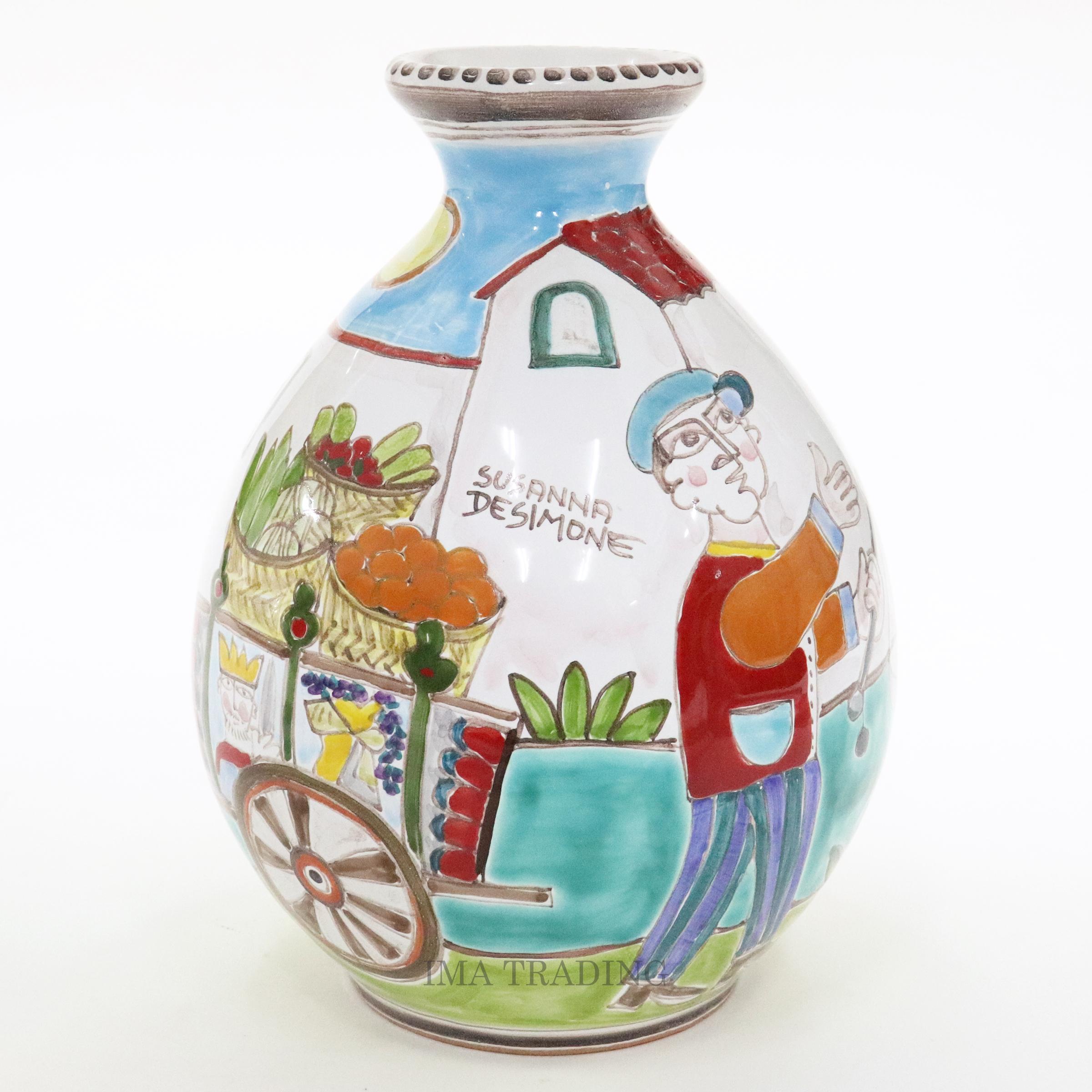 イタリア製 花瓶【M5-507DS】