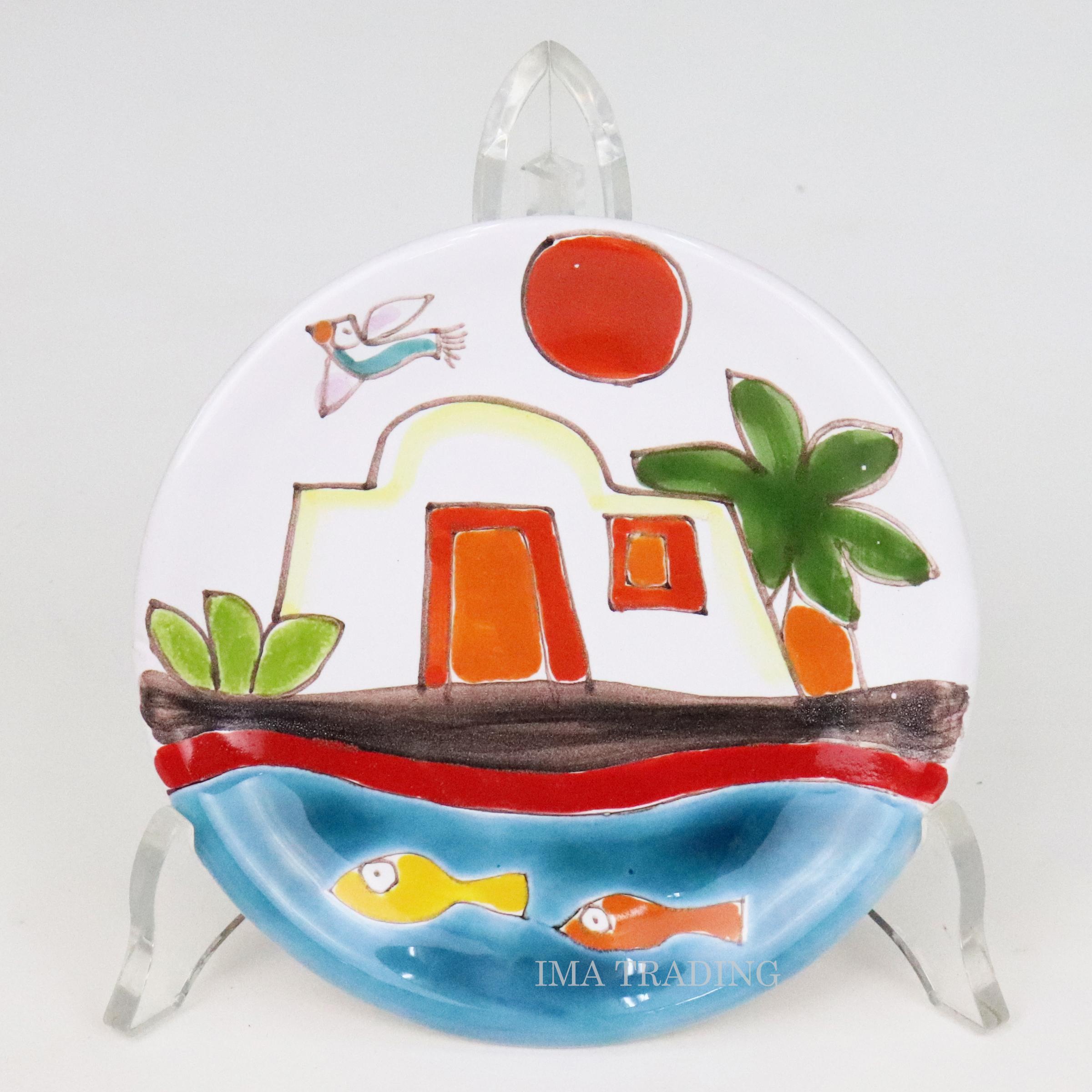 イタリア製 絵皿【M5-2404CN】