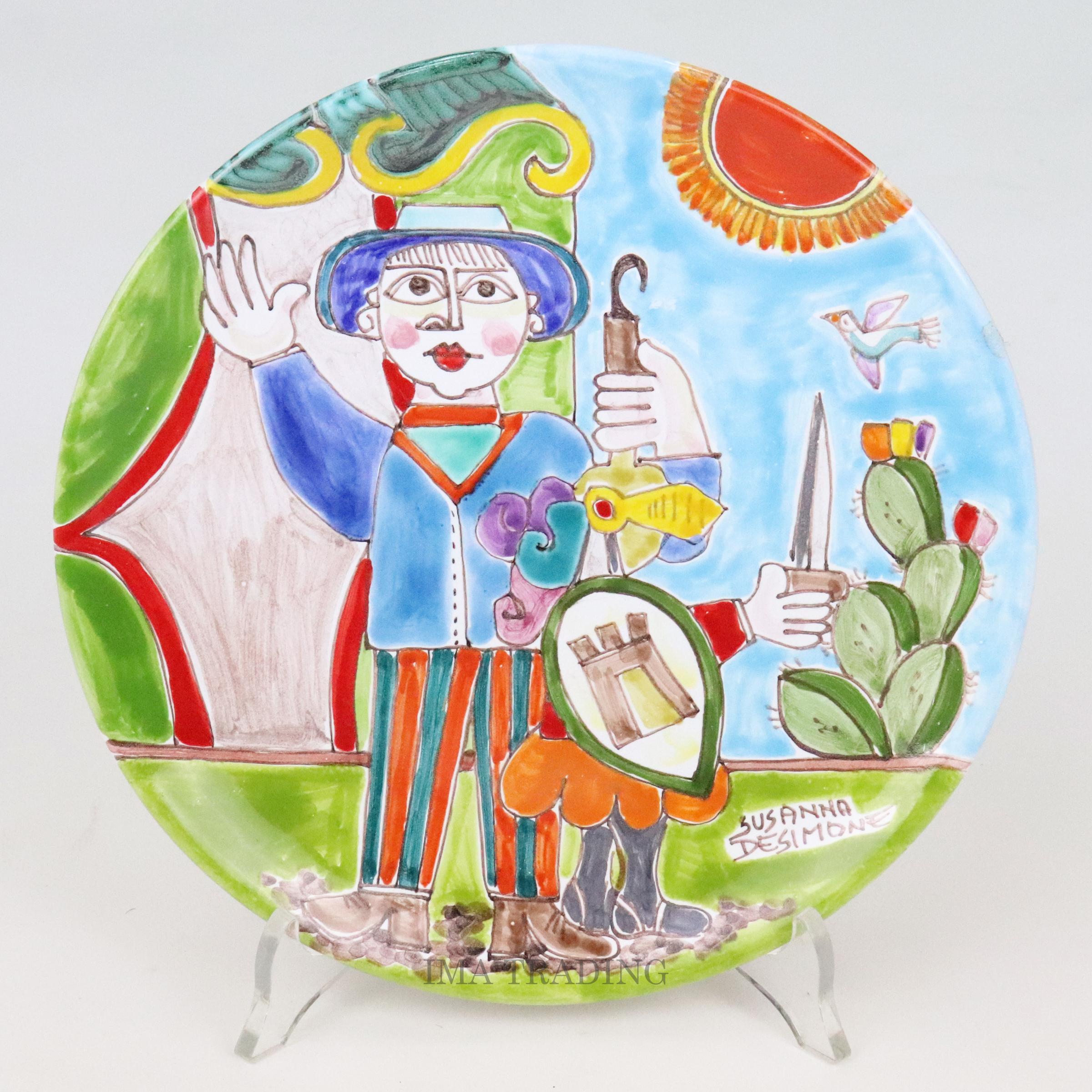 イタリア製 絵皿【M5-40718A】