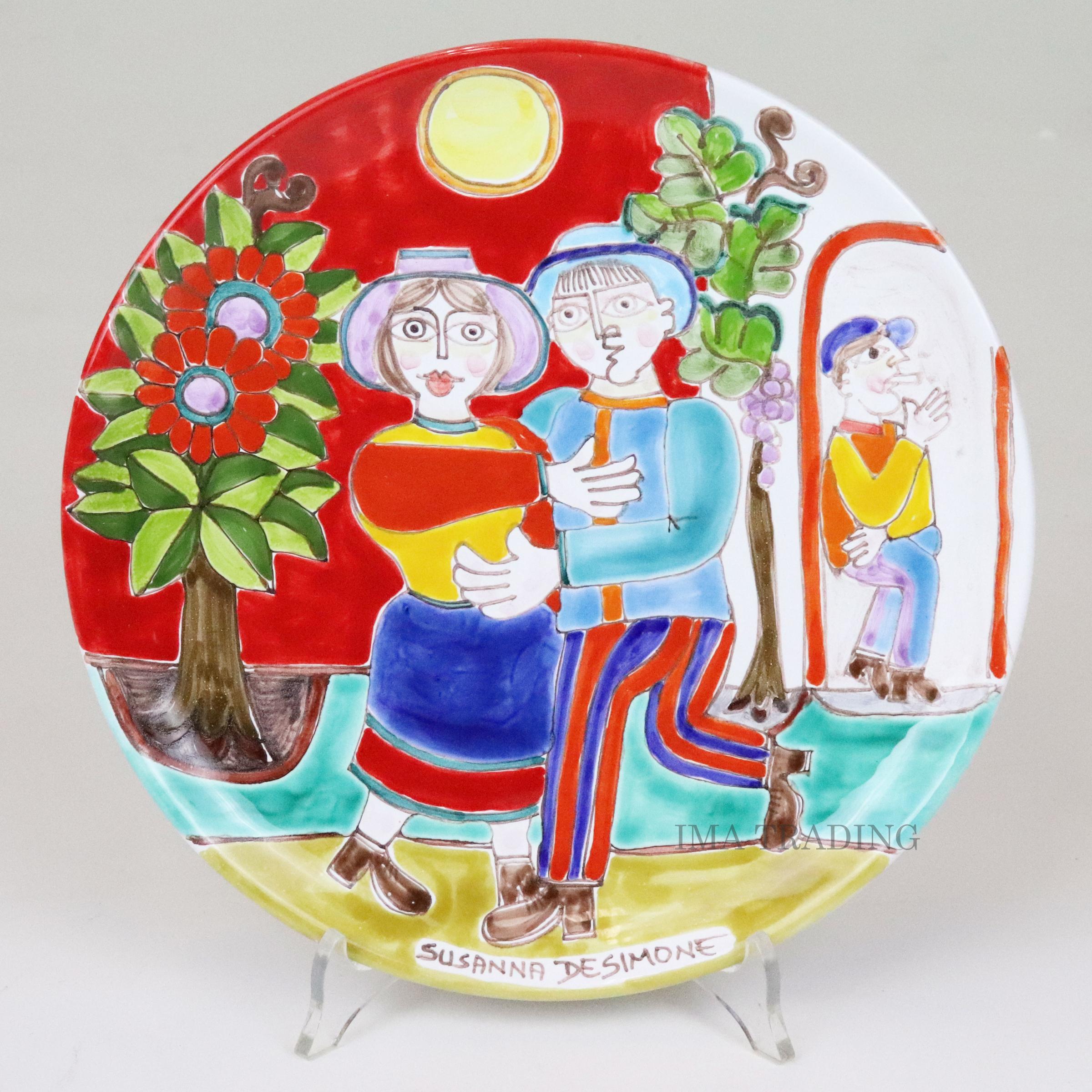 イタリア製 絵皿【M5-40726A】