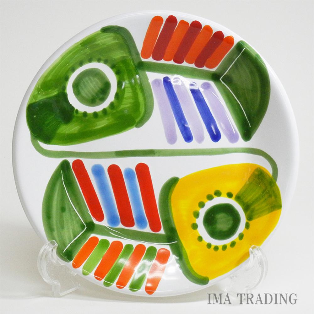 イタリア製 絵皿【M5-537SY】