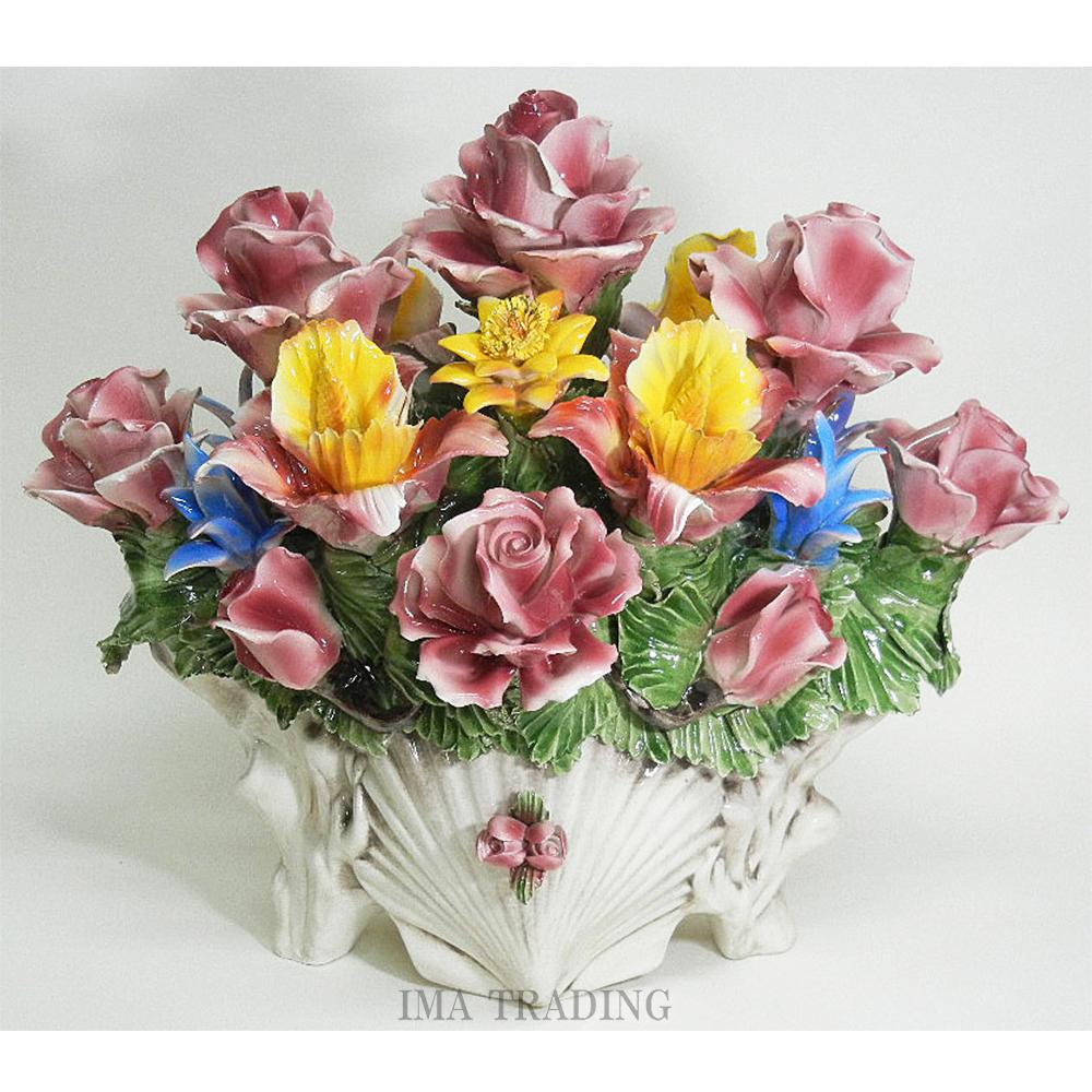 イタリア製 陶花【J4-A600】