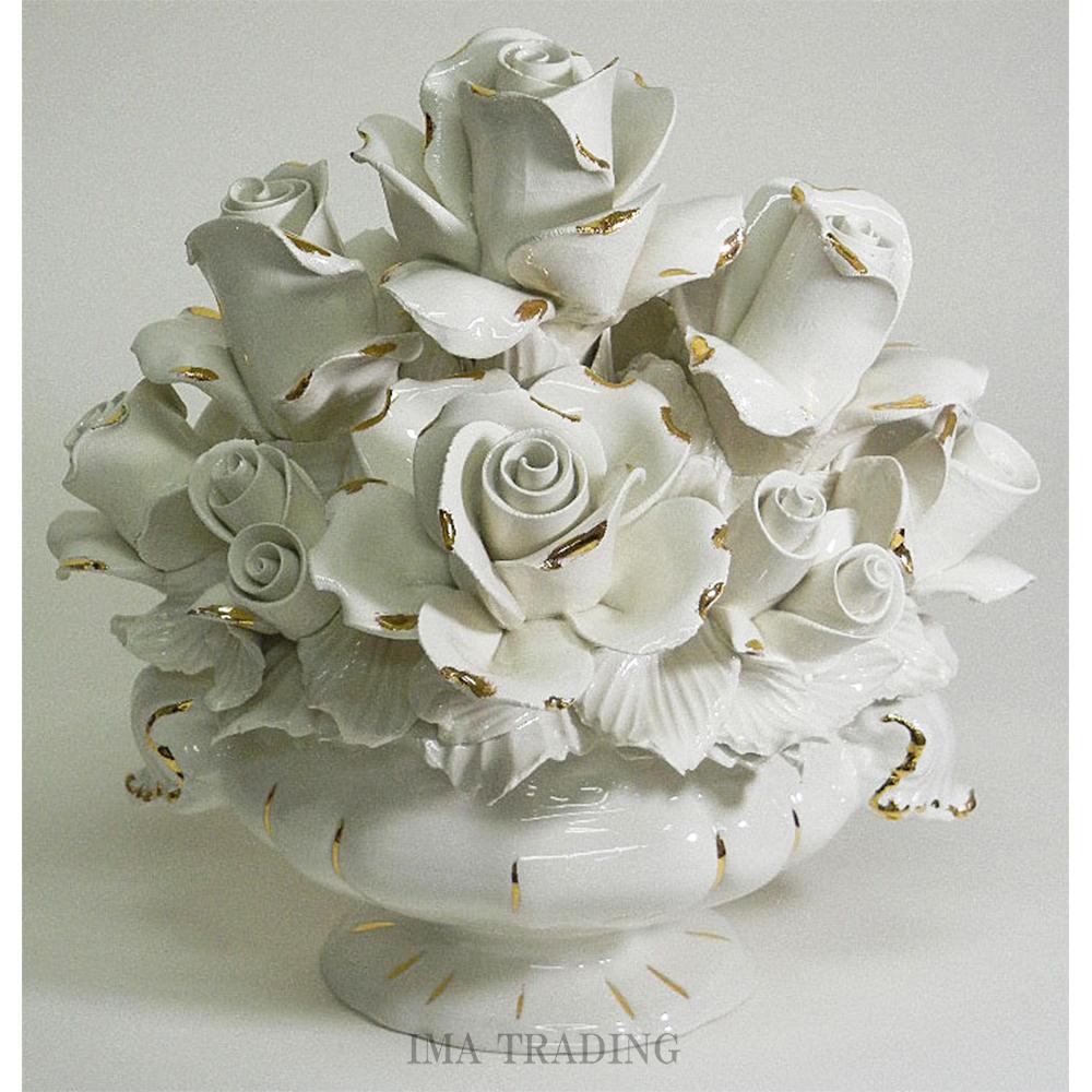 イタリア製 陶花【J4-A609W】