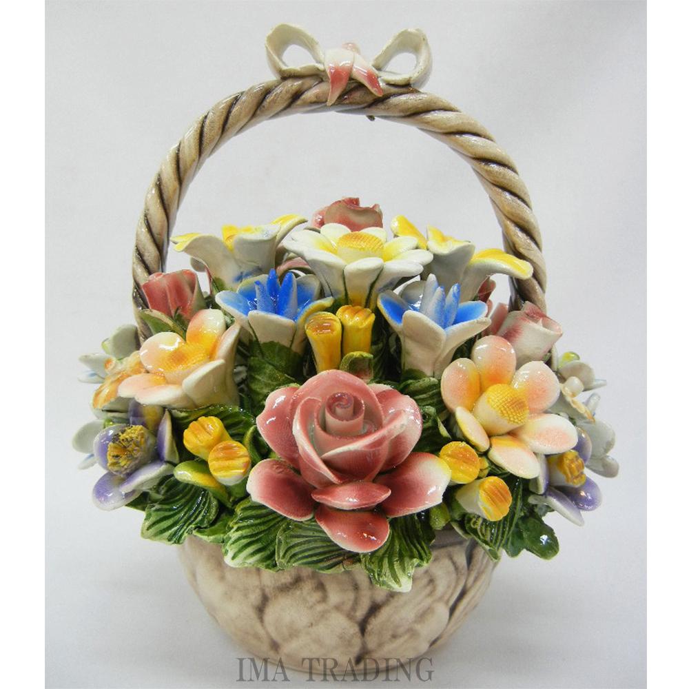 イタリア製 陶花【J4-A724/1】