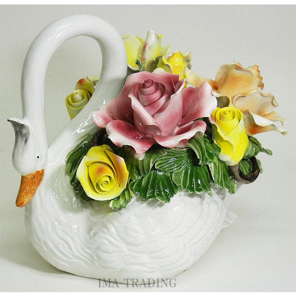 イタリア製 陶花【J4-A814】