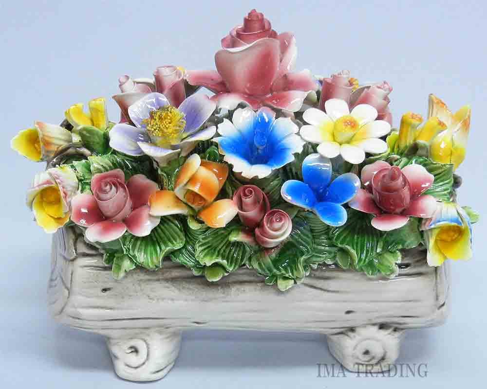 イタリア製 陶花【J4-A875】