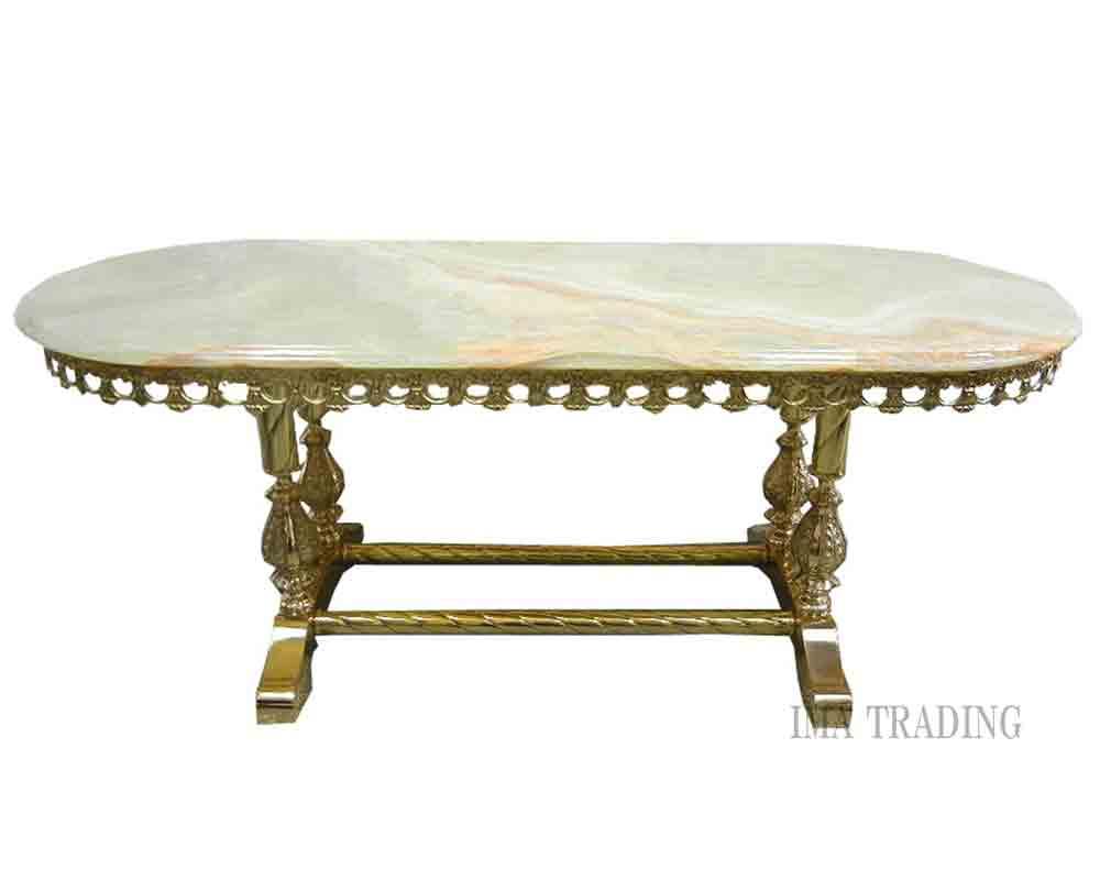 イタリア製 大理石付センターテーブル【L6-130】