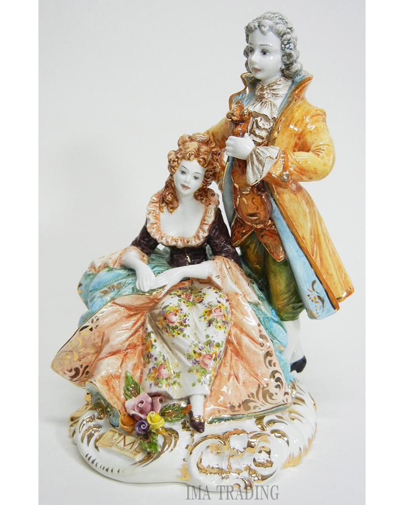 イタリア製 陶人形【N8-BC4B】