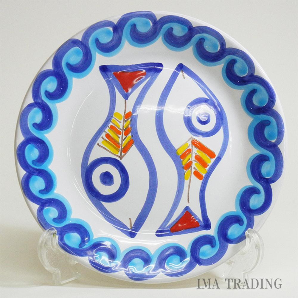 イタリア製 絵皿【M5-537SC】